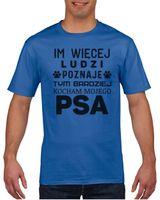 Koszulka męska Im więcej ludzi poznaję S Niebieski