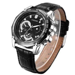 Zegarek męski elegancki, czarny, nowy