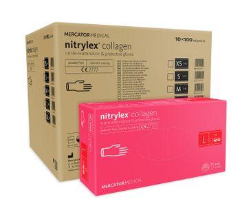 Rękawice nitrylowe nitrylex collagen L  karton 10 x 100 szt