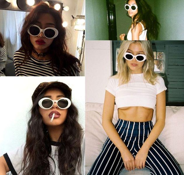 Okulary przeciwsłoneczne NIRVANA biało różowe