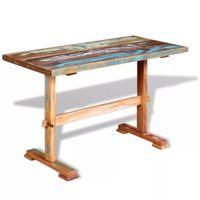 Stół do jadalni z litego drewna odzyskanego, 120x58x78 cm