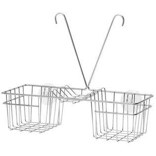 Koszyk na kran pod prysznic wygoda szeroki chrom na mydło swe