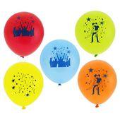 Balony imprezowe z nadrukiem PARTY kolorowe 5 szt