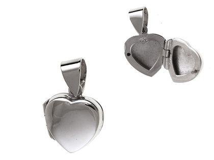 Srebrna otwierana zawieszka delikatne serce puzderko srebro 925 W0247