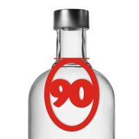 Zawieszki na butelki alkohol wódkę 90 URODZINY x10