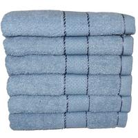 Komplet ręczników kąpielowych 50x100 cm 6szt. (wzór: gładki; kolor: szary)
