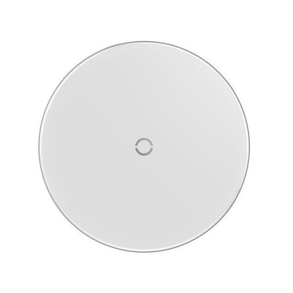 Baseus Simple - Bezprzewodowa ładowarka indukcyjna Qi do iPhone i Android 10W (biały) zdjęcie 9