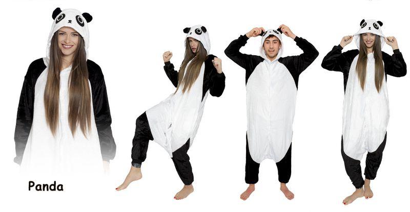KIGURUMI ONESIE DRES PIŻAMA KOMBINEZON panda S zdjęcie 1