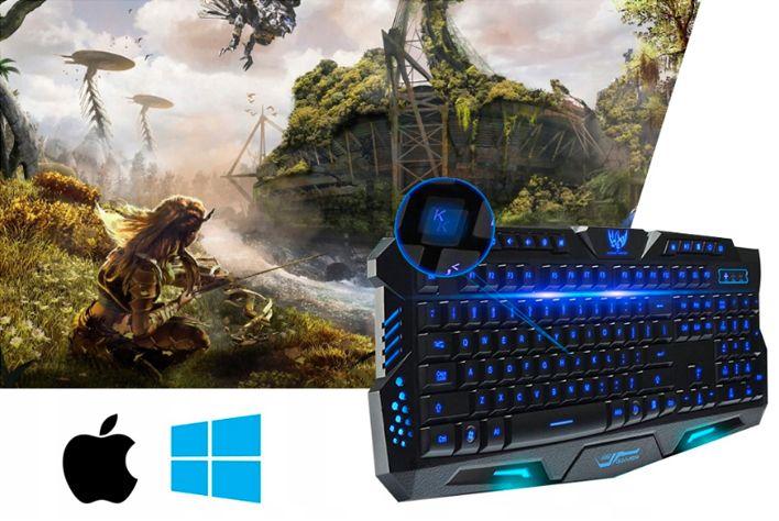 Podświetlana Klawiatura gamingowa dla graczy LED M166 zdjęcie 6