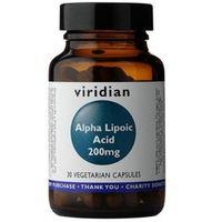 Kwas alfa liponowy ALA Alpha Lipoic acid 200mg 30 kapsułek Viridian