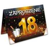 Zaproszenia 18 URODZINY szampańska impreza 10 szt
