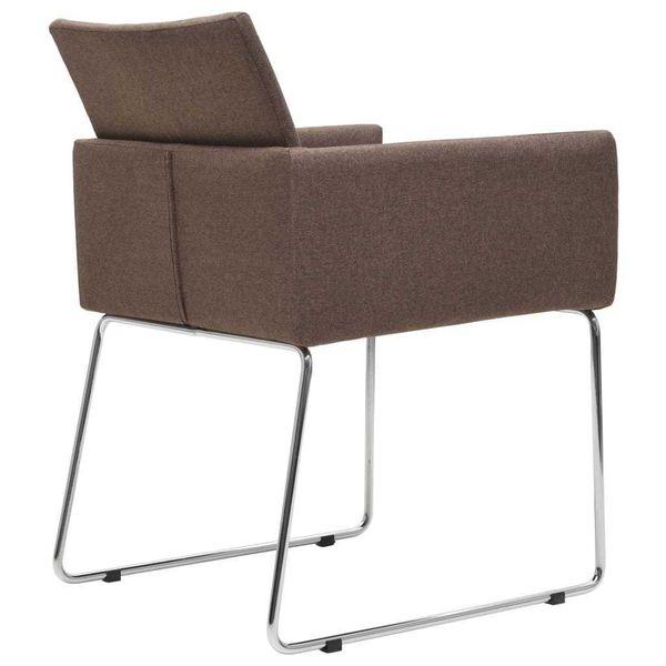 Krzesła Stołowe, 2 Szt., Brązowe, Tkanina zdjęcie 5