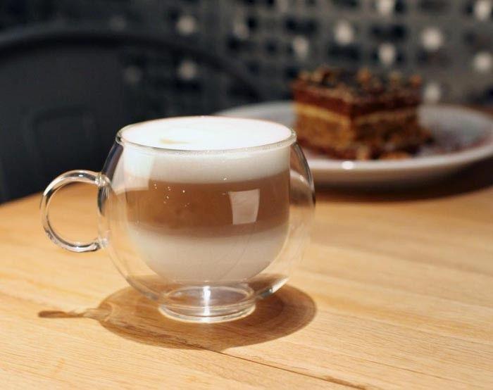 Szklanki Termiczne Kawy Cappucino 220ml Herbaty z Uchem 6 sztuk Vialli zdjęcie 3