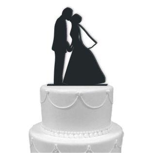 """Dekoracja na tort """"Para Młoda 10"""", czarna, 13 cm"""