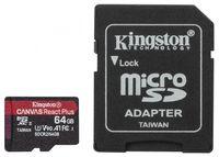 Kingston Karta pamięci microSD  64GB React Plus 285/165MB/s czytnik+adapter