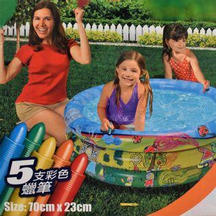Dmuchany basen dla dzieci kolorowy, kolorowanka