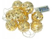 Lampki LED bombki choinkowe na baterie E18A
