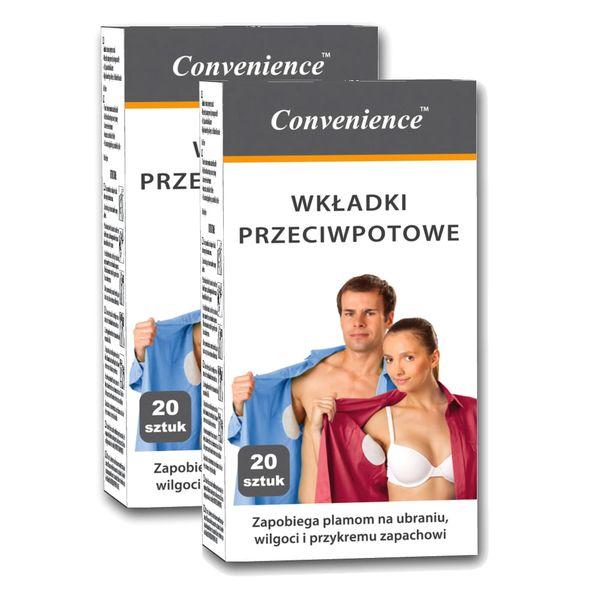 Convenience - Wkładki przeciwpotowe pod pachy 40 szt na Arena.pl