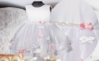 PL Urocza sukienka + GRATIS wesele chrzest 74/80