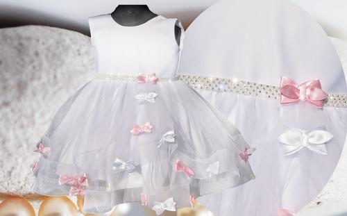 PL Urocza sukienka + GRATIS wesele chrzest 98/104 na Arena.pl