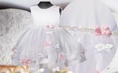 PL Urocza sukienka + GRATIS wesele chrzest 98/104