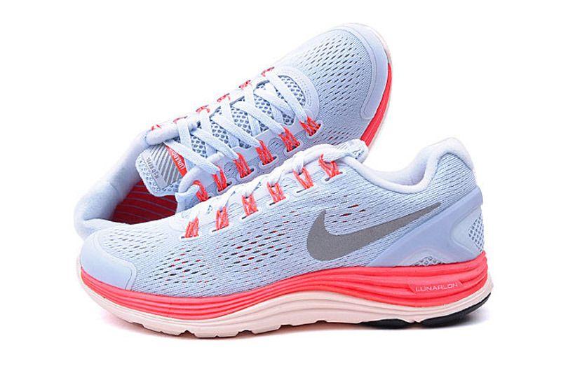 Buty damskie Nike Lunarglide 43 srebrno różowe