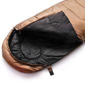 Śpiwór Meteor Dreamer Pro khaki-czarny lewy
