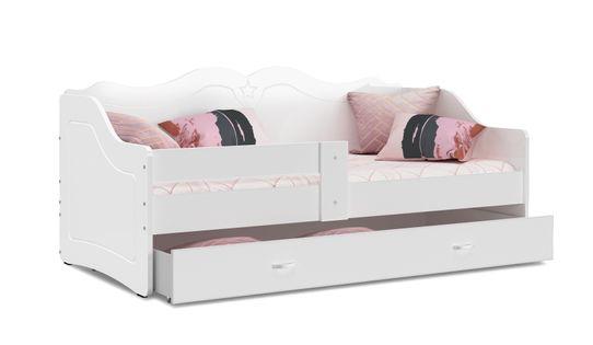 łóżko dziecięce LILI 160x80 biel + materac