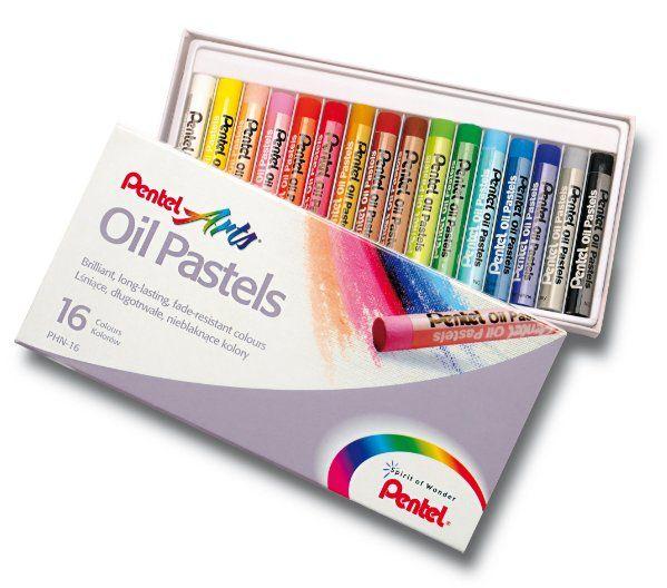 Kredki Pastelowe Olejne 16 Kolorów PENTEL PHN16 zdjęcie 1