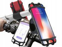 SILIKONOWY UCHWYT NA TELEFON GPS MOTOCYKL ROWER