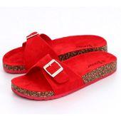 Klapki zamszowe czerwone CK61P Red r.37