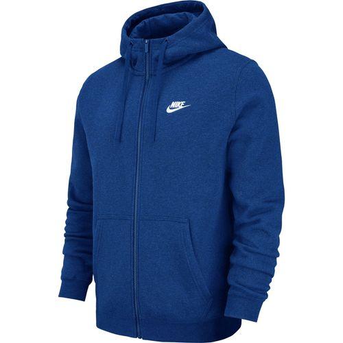 Bluza męska Nike M NSW Hoodie FZ FLC Club niebieska 804389 438 2XL