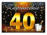 Zaproszenie na 40 urodziny - ZX6800