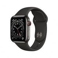 APPLE Watch Series 6 GPS + Cellular 40mm Graphite Stainless Steel Case with Black