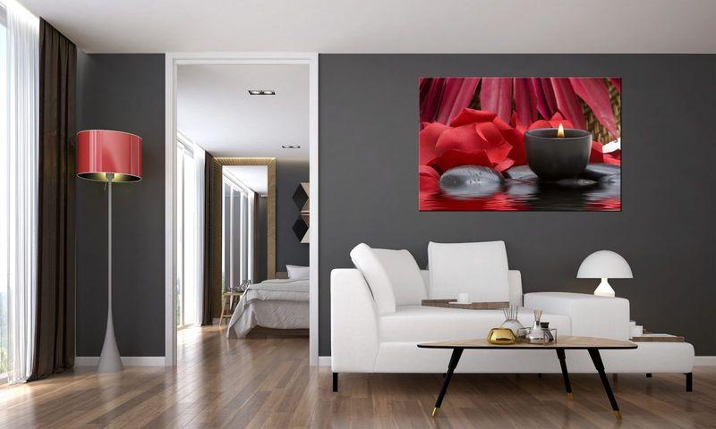 Obraz Na Ścianę 120X80 Świecznik Spa Świecznik Sp zdjęcie 3