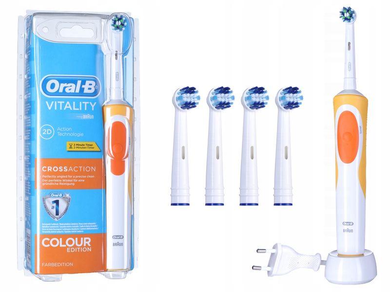Braun Oral-B Szczoteczka Elektryczna Vitality Cross Action +4 Końcówki  zdjęcie 1 1fff0fc18aa4
