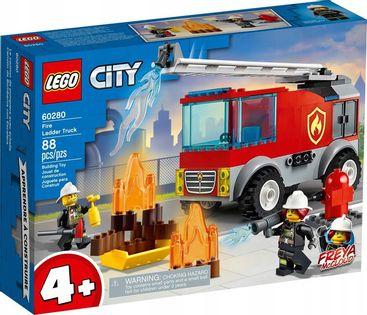 LEGO CITY 60280 WÓZ STRAŻACKI DRABINA 88 EL