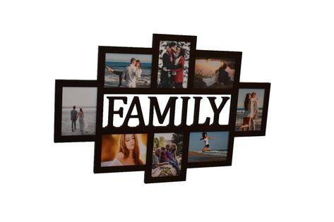 Multirama ramka na zdjęcia z napisem Family mdf 8 zdjęć 13x18