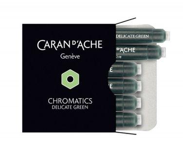 Naboje Caran D'ache Chromatics Delicate Green, 6Szt., Jasnozielone