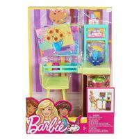 Barbie zestaw mebelków pracownia malarska