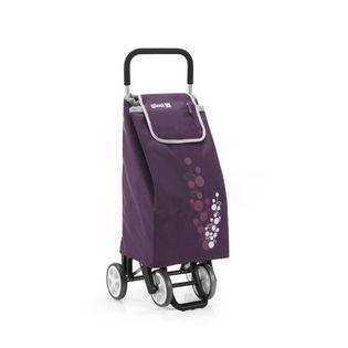 Lumarko Wózek na zakupy 30kg/56l. Twin fiolet 4 kółka!