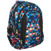 Trzykomorowy plecak szkolny St.Right 29 L, Pixelmania Blue BP4