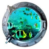 Naklejki na ścianę ścienne Okno 3D Akwarium WS-0152