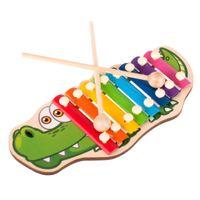 Cymbałki Drewniane Kolorowe Dla Dzieci Krokodyl