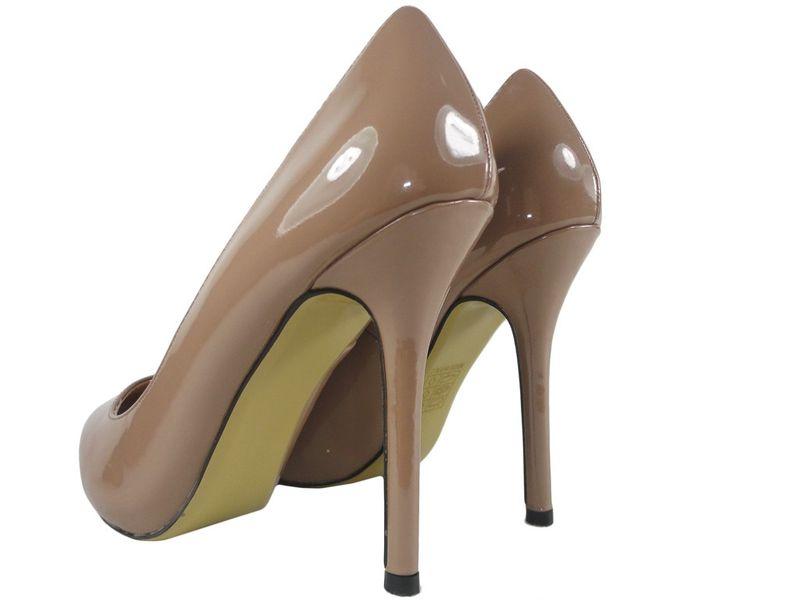Szpilki damskie khaki jasny brąz zgrabne buty 41 zdjęcie 3