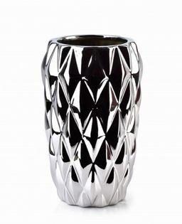 Wazon Ceramiczny 12.5X12.5X20Cm Basile Silver Mondex Htts6796