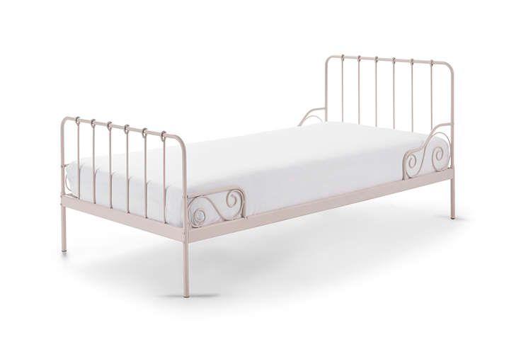 Metalowe łóżko Dla Dziecka Alice Old Pink